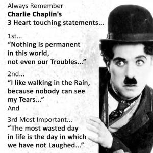 Best statements By Charlie Chaplin