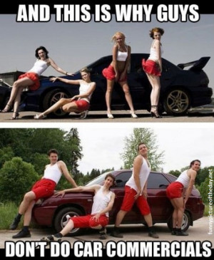 Why Guys Don't Do Car Ads Funny Comparison