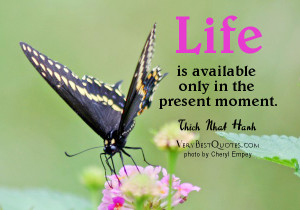 Inspirational quotes - Life is in the present moment.