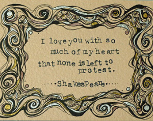 ... Quote - Much Ado About Nothing, Literature Art, Love Quote Art