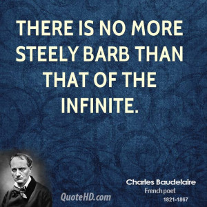 There is no more steely barb than that of the Infinite.