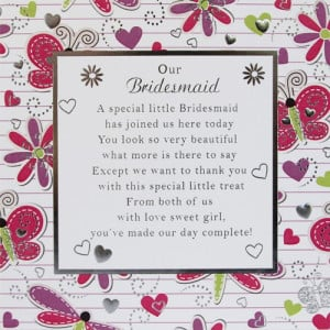 Our Bridesmaid Card Medium - 150mm x 150mm