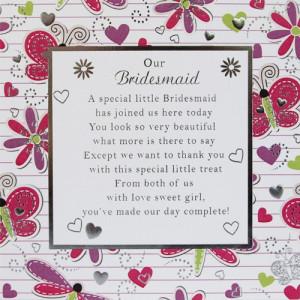 Our Bridesmaid Card Medium - 150mm x 150mm