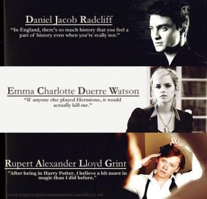 daniel radcliff, emma watson, harry potter, rupert grint