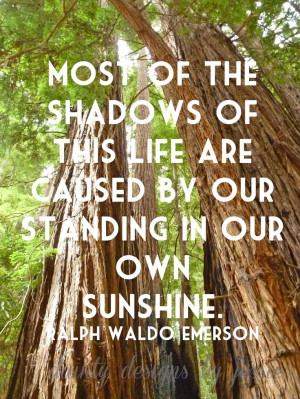 Most Shadows of This Life Are Caused By Our Standing In Our Own Shadow ...