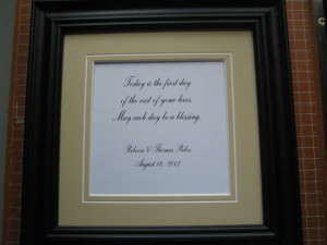 Personalized framed quote for wedding gift or anniversary - 9x9 ...