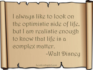 Wald Disney quote on optimism