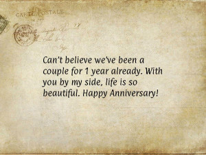 ... already. With you by my side, life is so beautiful. Happy Anniversary