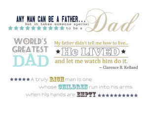 Father Quotes and Word Art for Your Scrapbook Layouts