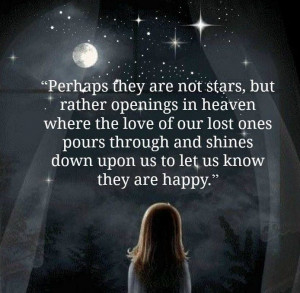 Perhaps they are not stars, but rather openings in heaven where the ...
