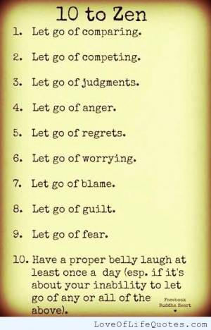 Related Lifestyle Zen Quotes And Sayings