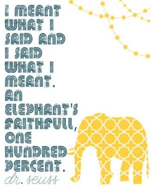 faithful elephantdr seuss8x10 print5 color options by leesaralou $ 12 ...