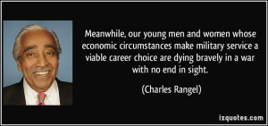 Meanwhile, our young men and women whose economic circumstances make ...