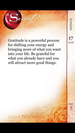 Gratitude!! 'Law of attraction'..