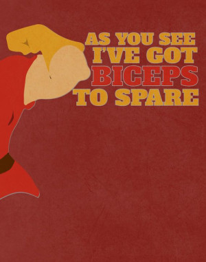 beauty and the beast.. gaston funny biceps quote