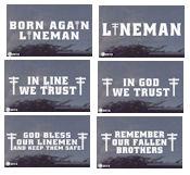... linemen truck item dcd100 81 power lineman decals your choice price