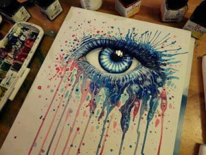 art, cute, eye of color, love, pretty, quote, quotes