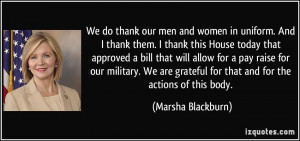 Women In The Military Quotes We do thank our men and women