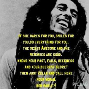Bob Marley Quotes About Men Loving Women. QuotesGram