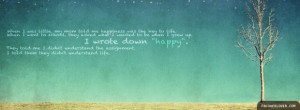 Fb quotes about life happiness is the key to life facebook cover ...
