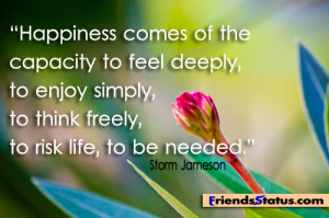 feel happiness quotes image