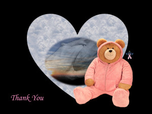 thank you note for those supporting breast cancer patients/awareness ...