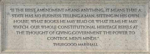 ... the power to control men's minds'' a quote by Thurgood Marshall