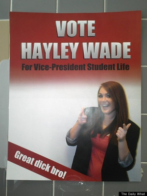 ... of Calgary Student Election With 'Great Dick Bro' Campaign Poster