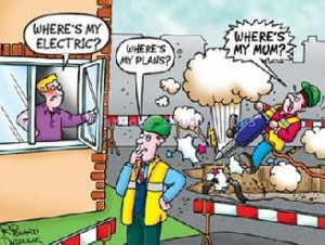 Funny Electrical Safety Cartoon