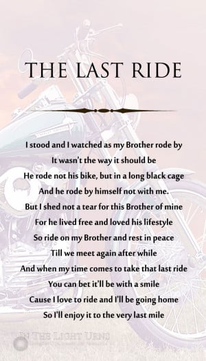 Memorial Service Poem Biker Funeral Poems Memorial