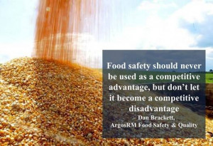 Food safety should never be used as a competitive advatage, but don ...