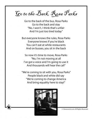Poems for Black History Month Kids Poem, Rosa Parks - Black History ...