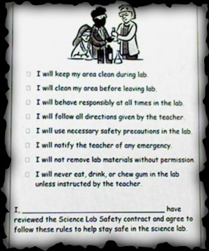 Safety is the highest concern in our Science Lab.