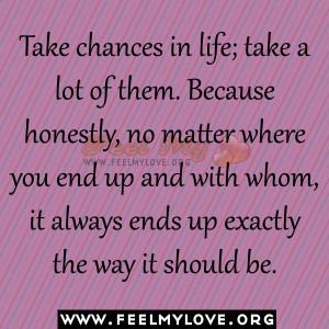 Posts Tagged 'chances quotes