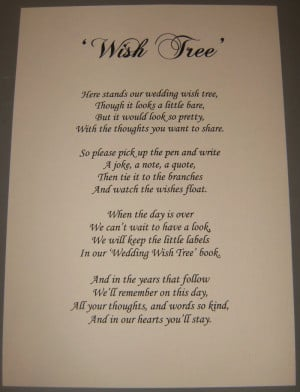 ... book we'll be having a wishing tree. Here's the idea behind it