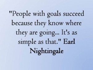 ... where they're going...It's as simple as that. — Earl Nightingale