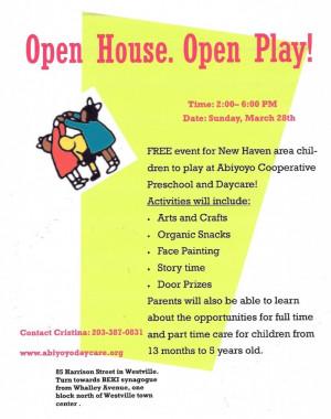 Abiyoyo Open House in New Haven