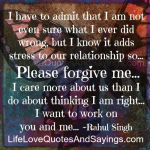 Please Forgive Me..