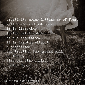 ... …. Thursday! Going with the flow and quotes to inspire creativity