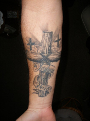 Cross Tattoo Design is most used in Christian Arm Tattoos, Cool Design ...