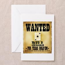 Wanted for Texas Hold'em - Bi Greeting Cards (Pack for