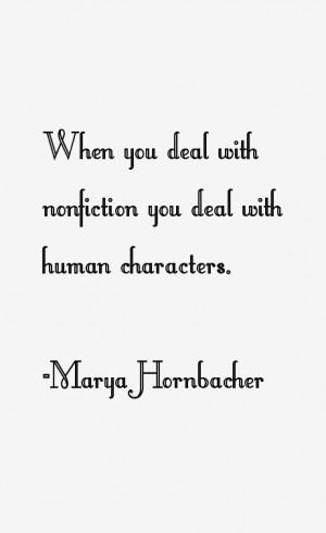 Marya Hornbacher Quotes & Sayings