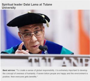 Dalai Lama Inspirational Quote.