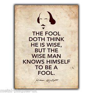 ... SIGN-WALL-PLAQUE-SHAKESPEARE-As-You-Like-It-The-Fool-Quote-poster-wall
