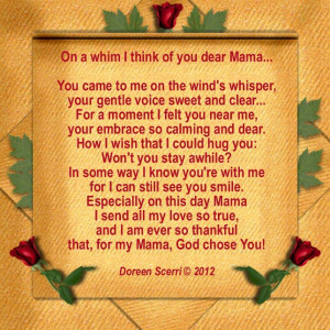... mother, this Whimsical Poem is a perfect choice for Mother's Day