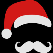 Funny Santa Claus with nerd glasses and mustache Tank Top