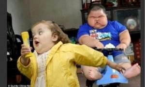 chubby bubble girl meets chubby baby