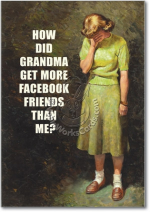 Grandma Facebook Unique Funny Birthday Card Nobleworks