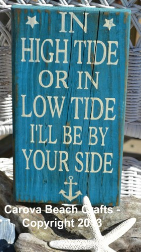 ON SALE - In High Tide or Low Tide - Beach Theme - Beach Sign - Beach ...