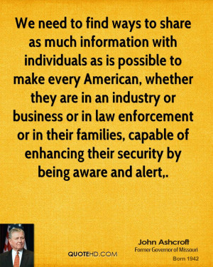 We need to find ways to share as much information with individuals as ...